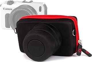 comprar comparacion DURAGADGET Funda/Estuche Rígida para Canon EOS M | M10 | M2 - Roja Y Negra - Cierre De Cremallera Y Banda para El Cinturón