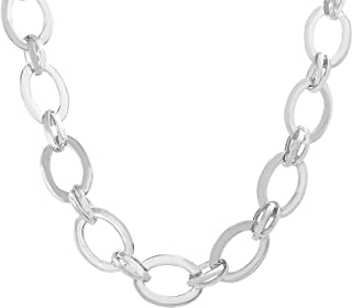 Best chain link necklace silver Reviews