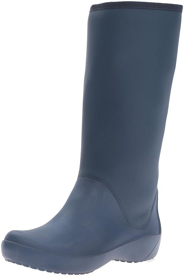 抗生物質ティッシュ滝[Crocs] レディース RainFloe Tall Boot カラー: ブルー