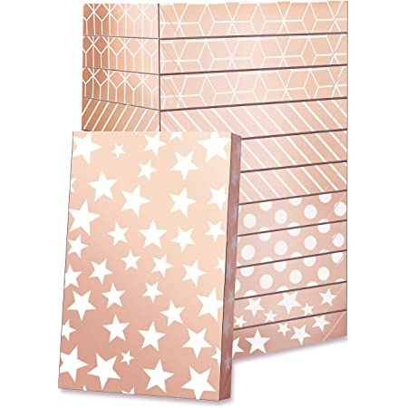 GREEN BEAN Gift Boxes for clothes 14.5x9.5x2 Inches, Shirt Gift Boxes, Large gift boxes with Lids, Rose Gold Gift Boxes for clothes (Rose Gold, Pack of 12)