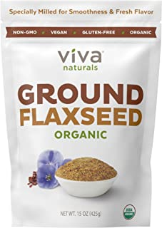 Viva Naturals - The BEST Organic Ground Flax Seed, 15 oz - Proprietary Cold-milled Technology