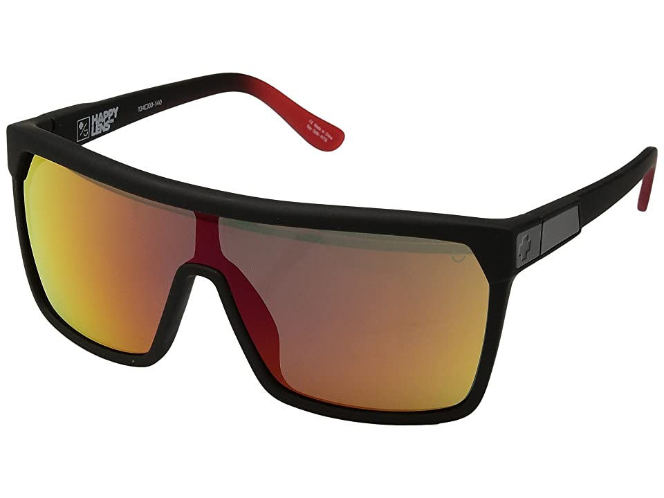 Spy Optic Flynn (Flynn Soft Matte Black/Red Fade/Happy Gray/Green/Red Flash) Sport Sunglasses