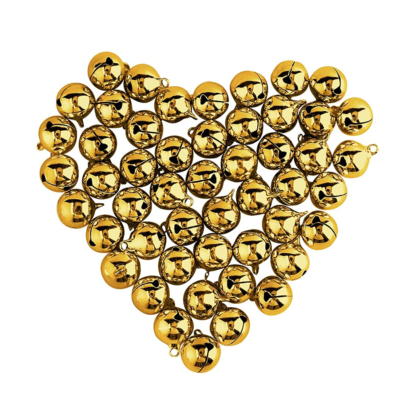 Craft Bells, Sdootjewelry 50Pcs 0.71 inch Jingle Bells Gold Christmas Bells Small Bells Bulk for Party Festival Decorations and DIY Jewelry Making