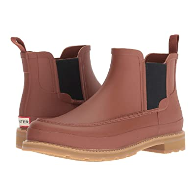 Hunter Lightweight Mock-Toe Chelsea Boots (Pine Cone) Men