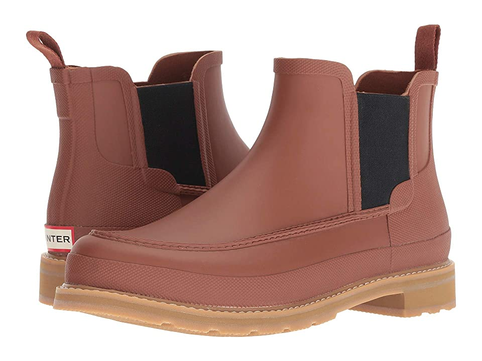 Hunter Lightweight Mock-Toe Chelsea Boots (Pine Cone) Men
