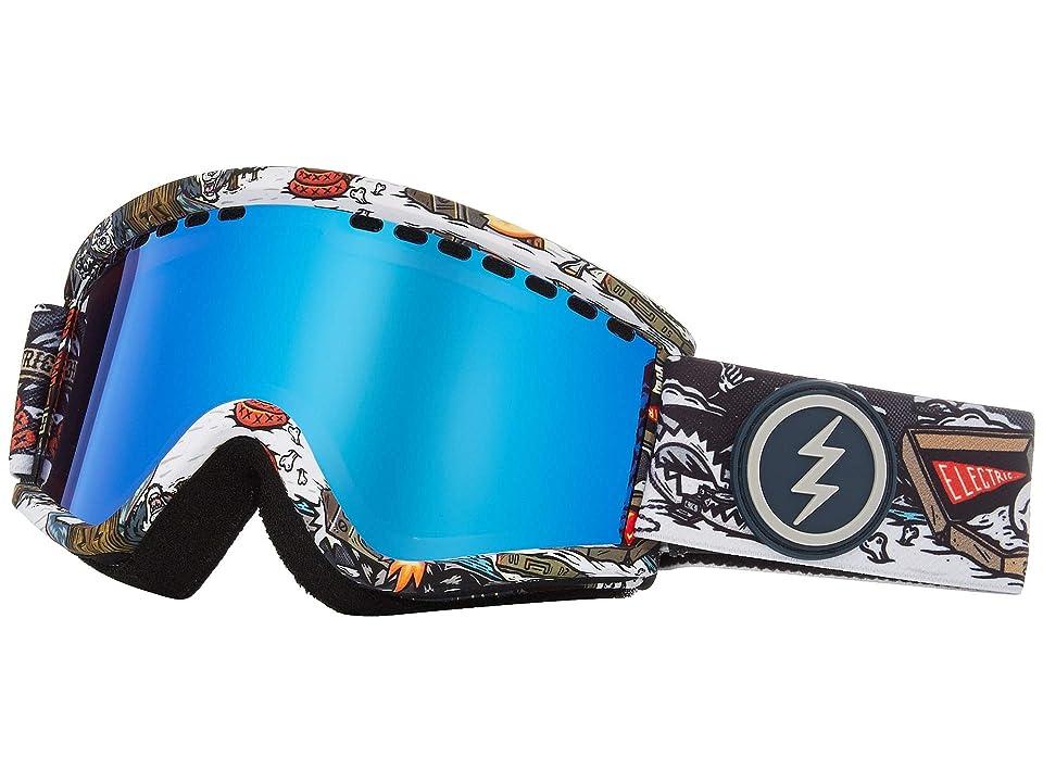 Electric Eyewear EGV.K (Curl Brose/Blue Chrome) Athletic Performance Sport Sunglasses