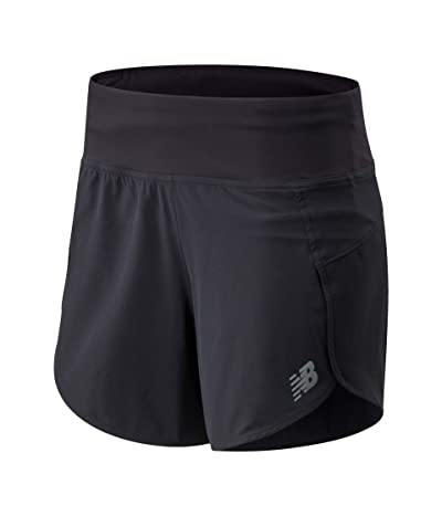 New Balance Impact Run Shorts 5 (Black) Women