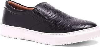 Carlos Santana Men's Don Slip-on Leather Low top Fashion Sneaker