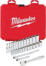 Milwaukee 932464943 1/4 cala zestaw kluczy zapadkowych metryczny, 28 sztuk, czerwony