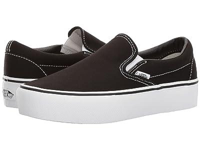 Vans Classic Slip-On Platform (Black) Slip on Shoes
