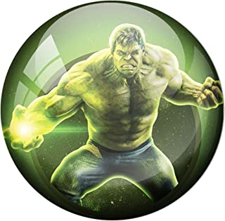 AVI Fridge Magnet with Green Colour Avengers Endgame s Hulk 58mm Metal Regular Size 58mm MR8000385