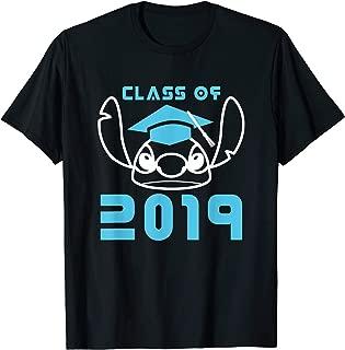 Stitch Class of 2019 Graduation Line Art Blue T-Shirt
