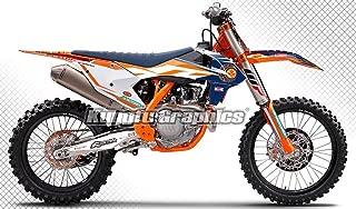 Kungfu Graphics Custom Decal Kit for 125 150 250 350 450 SX SXF SX-F XC XCF XC-F 2016 2017 2018 (2016 250sx 250xc 300xc is NOT included), Orange White, Style 003