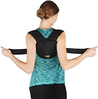 Clavicle Bandage by Soles - Adjustable, Flexible, Breathable Neoprene - Unisex - Improves Poor Posture & Osteoporosis, Clavicle Brace for Collarbone Injuries (L-XL: 90-110 cm)