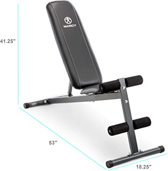 Marcy Exercise Utility Bench for Upright, Incline and Flat Exercise