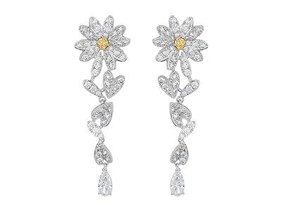 Swarovski Eternal Flower Pierced Earrings (CZ Orange) Earring