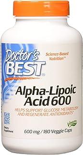 Doctors Best Alpha-Lipoic Acid, Non-GMO, Gluten Free, Vegan, Soy Free, Helps Maintain Blood Sugar Levels
