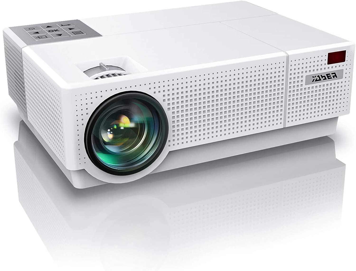 YABER Y31 8500L Native 1920x1080P Projector, 2021 Upgraded Full HD Video Projector, ±50° 4D Keystone Correction Support 4K, Home Theater Projector Compatible with Phone,PC,TV Box,PS5