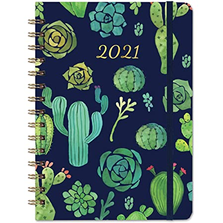 """2021 Planner Jan 6.3/"""" x 8.4/"""" 2021 - Dec Weekly /& Monthly Planner with Tabs"""