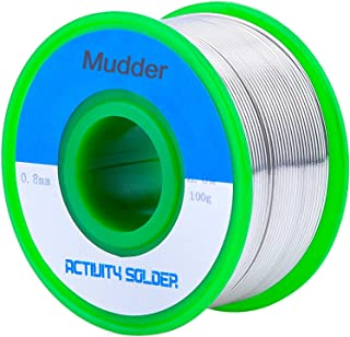 Mudder Lead Free Solder Wire Sn99 Ag0.3 Cu0.7 with Rosin Core for Electrical Soldering 100g (0.8 mm)