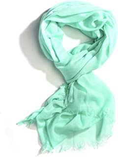 Apparelism Women's All Season Solid Color Light Weight 100% Cotton Oblong Large Scarf Shawl