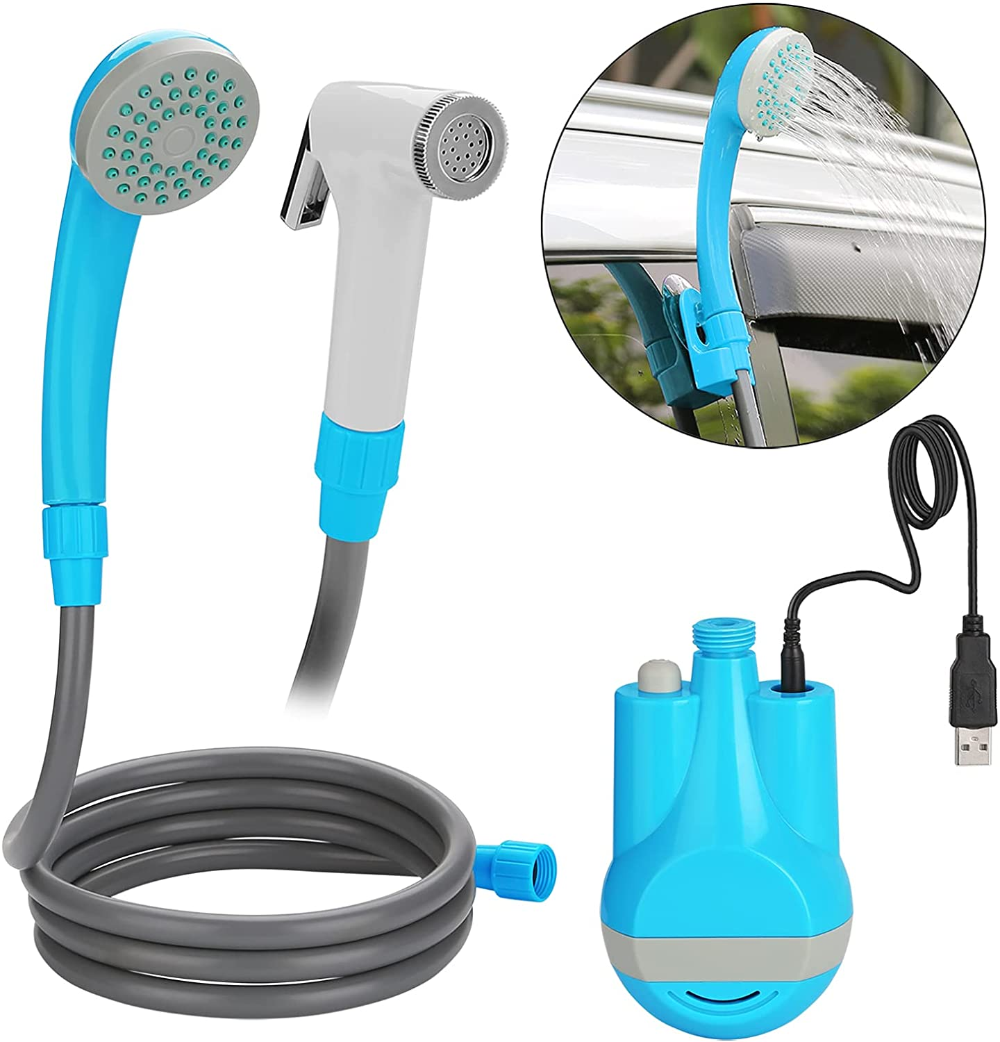 Super special price mart WADEO Portable Shower Camping Camp Outdoor E Pump
