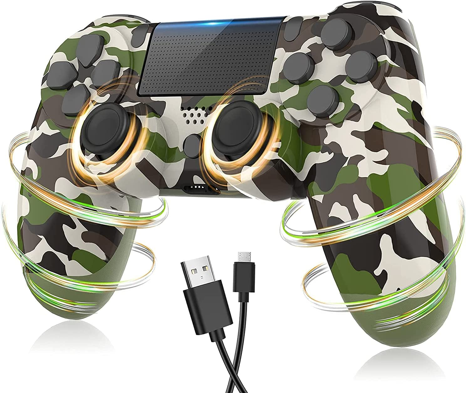 AUGEX Camo Green Regular discount PS4 Controller 4 Playstation Popular standard C with Compatible