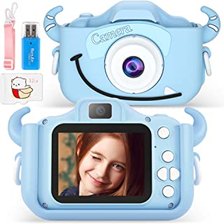 Appareil photo numérique 20 mégapixels pour enfant - Selfie et caméra vidéo avec double objectif - Écran 2 pouces HD 1080P...
