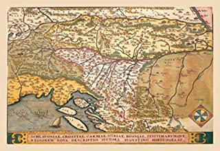 ArtParisienne Map of Eastern Europe #3 Abraham Ortelius 20x30 Poster Semi-Gloss Heavy Stock Paper Print
