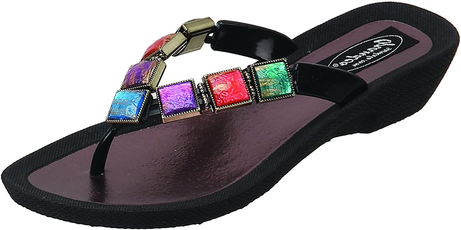 Grandco Women's Stained Glass Thong Sandal