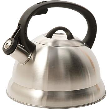 Mr. Coffee 91407.02 Flintshire Tetera silbante de acero inoxidable, 1.65 L, Plateado, 1.75-Quart, 1