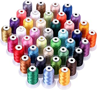 KEIMIX Polyester Embroidery Machine Threads | 40 Assorted Colors 550 Yards Each Spools | Sewing Kits for Bro-Ther/Baby-Loc...