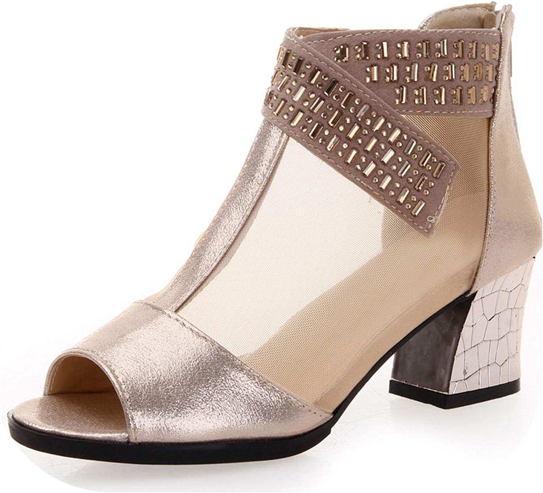Shine-shine Open Toe Rhito Woman Sandals M649