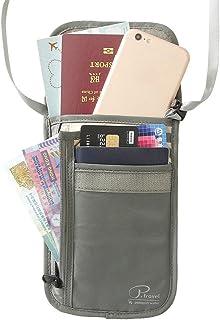 Amazon.com | Genbagbar Travel Document Holder Family Organizer RFID Passport Wallet Neck Pouch (Camo Blue) | Travel Wallets