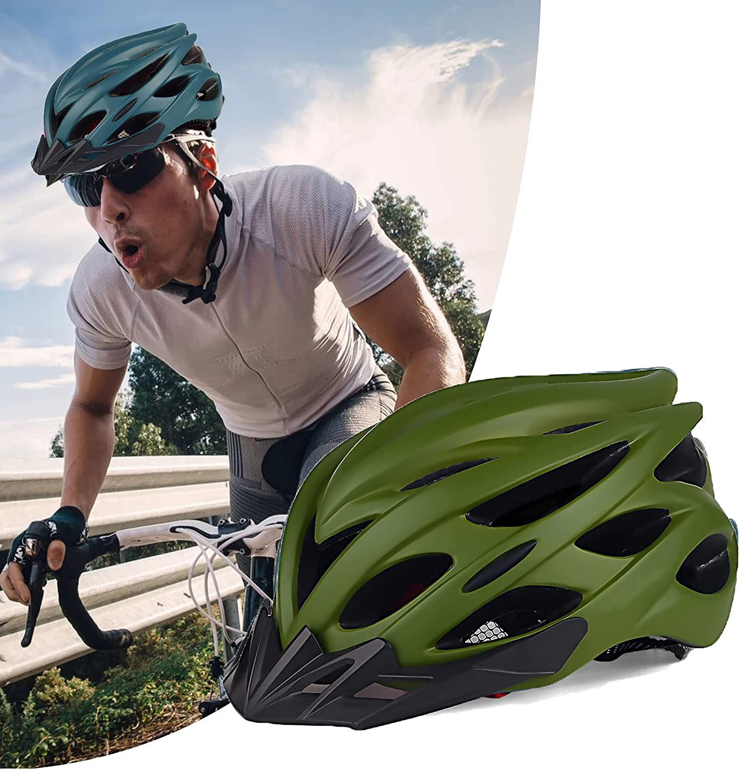 hsj Bicycle Helmet Beauty products Unisex Adult Ultra-Cheap Deals Ultra-Light Mountain Breathable