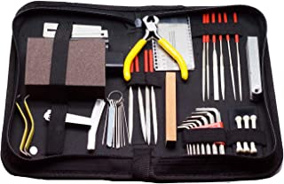 Timiy Complete Guitar Accessories Repair and Maintenance Kit - Set of Tools For Guitar Ukulele & Bass,Guitar Kit With Case