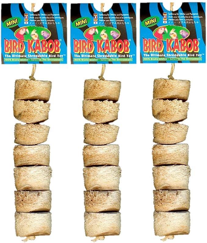 BIRD KABOB Wesco Shreddable Bird Perch Toy Carnival 8.5 Long x 13 High Pack of 2