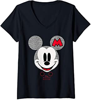 Femme Disney Year of the Mouse Mickey Mouse Club October T-Shirt avec Col en V