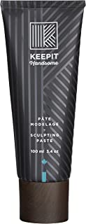 KEEPIT HANDSOME Sculpting Paste, Natural Pliable Hold With Medium Shine Travel Size, 3.4 oz (100 ml)