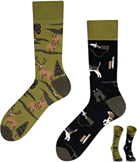 TODO COLOURS Calcetines casuales Mix & Match – Hunting – Calcetines coloridos para individualistas