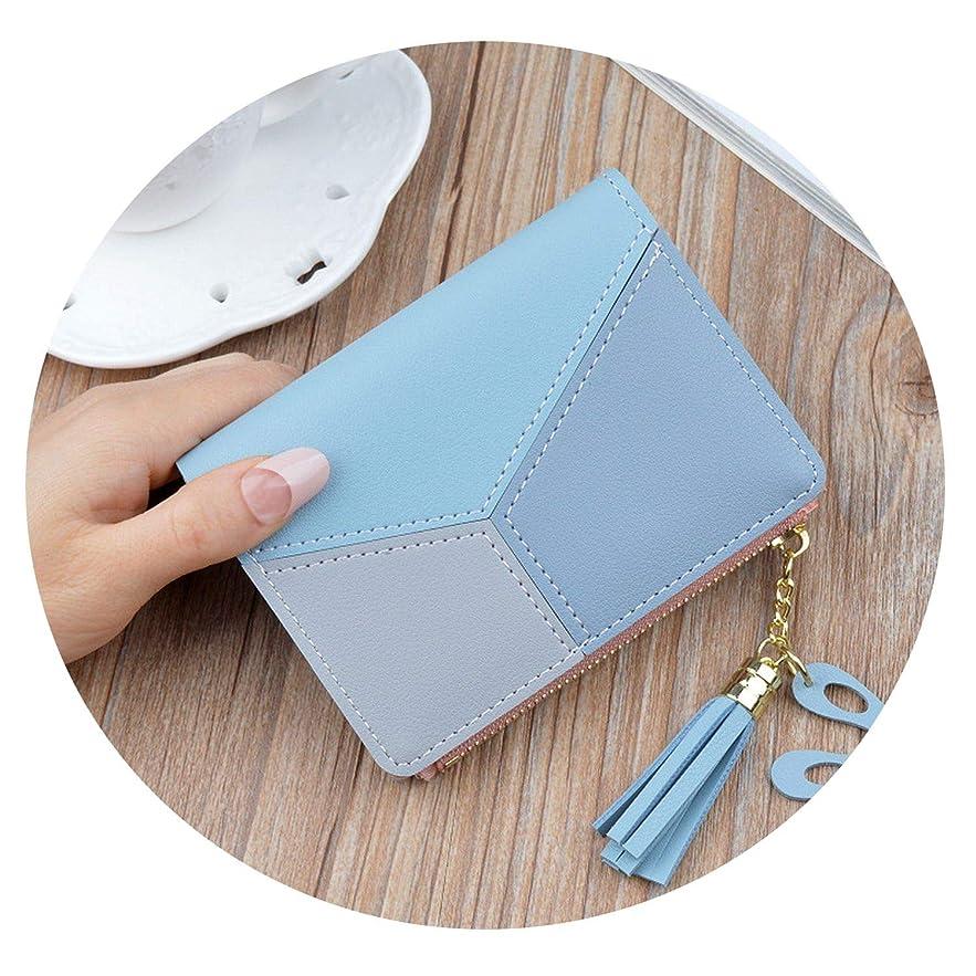 ヒール疑い年齢韓国の新しい女性の短い財布ステッチコントラストカラー短い財布タッセルジッパーマルチカード位置財布スポット