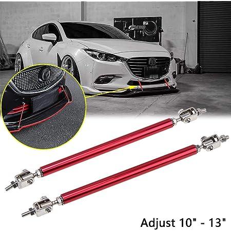 Adjustable 7.87-13 Inch Front Lip Tie Rods Front Lip Rod Bumper Lip Splitter Front Bumper Spoiler Compatible With 2015-2017 for Honda Fit