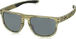 Oakley Men's Holbrook R Non-Polarized Iridium Square Sunglasses, Walnut, 55.0 mm