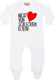 Kleckerliese Baby Kinder Schlafanzug Strampler Langarm Einteiler Motiv Nicht von schlechten Eltern