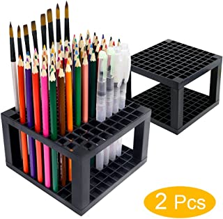 YOUSHARES 96 slots Pencil Holder - Desk Stationary Standing Organizer Holder, Perfect for Pen/Pencil, Paint Brush, Gel Pen, and More (2 Packs)