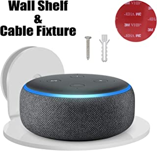 YES Google Home Echo Dot Wall Mount, Smart Home Outlet Wall Mount Shelf: Hidden Cable Management for Security Cameras,Nest,Smart Speakers,echo dot and more,A Space-Saving Shelves Solution(Wall Shelf)