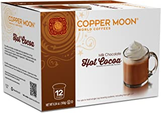 Copper Moon Cocoa Single Serve Pods for Keurig 2.0 K-Cup Brewers, Hot Cocoa, Rich Milk Chocolate Specialty Drink A Great Holiday or Wintery Treat. 12 Count