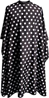 """SMARTHAIR Professional Salon Cape Polyester Baber Cape Hair Cutting Cape,54""""x62"""",Black and White Dots,C375001C"""