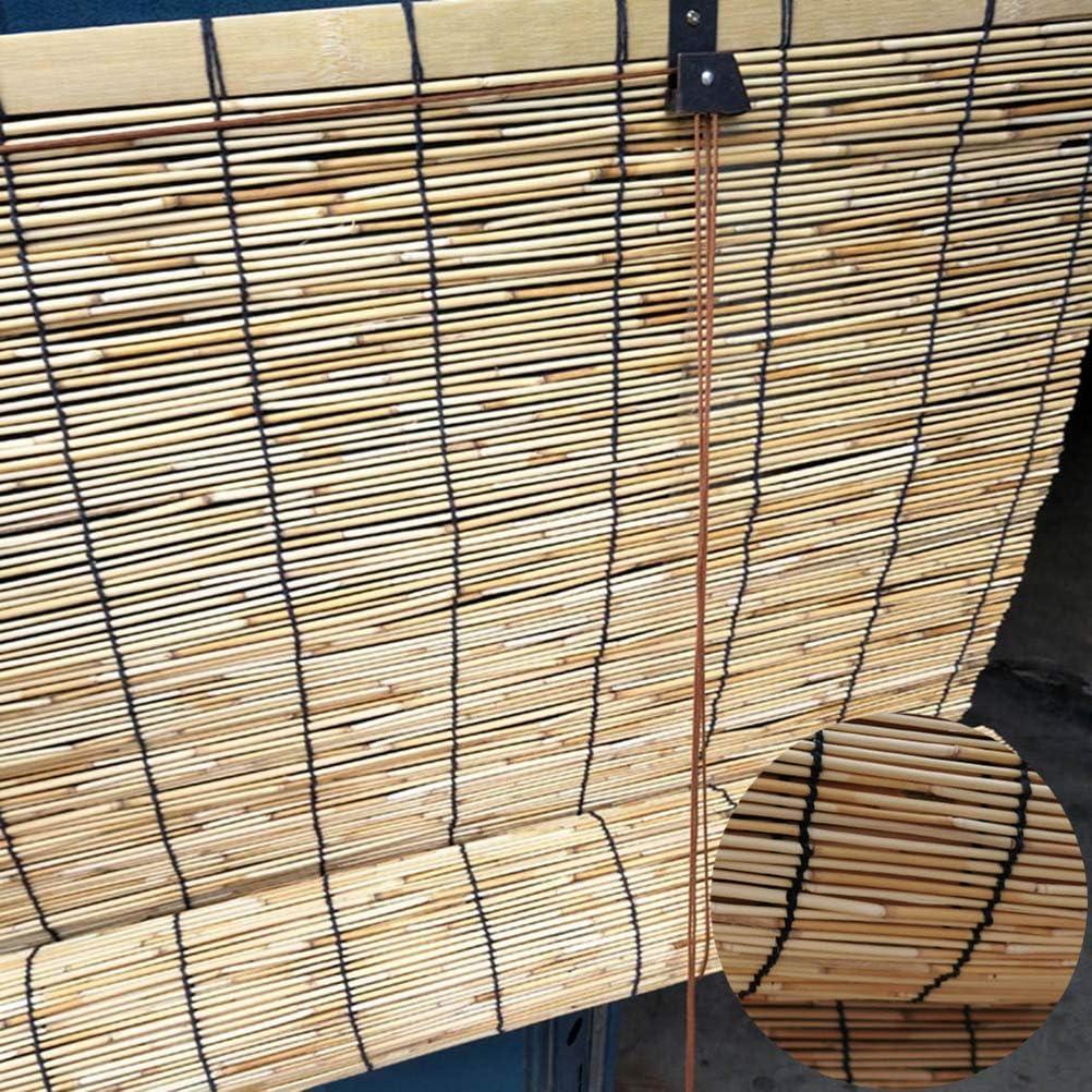 LIUU Roll Up Blinds for 人気海外一番 Patio Bamboo Roller ブランド買うならブランドオフ Roman