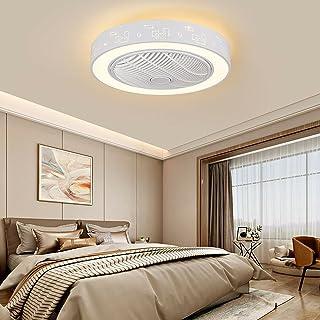Plafonnier LED + télécommande - 3 couleurs - Intensité variable - Ventilateur de plafond silencieux - 3 vitesses de vent -...